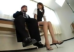 Amazing Japanese chick Akira Shiratori in Exotic Handjob, Couple JAV scene