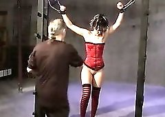 Cuffed Spread And Flogged
