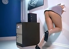 European chick gets her juicy ass oiled up and deeply penetrated
