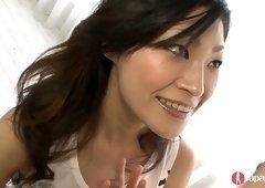 Watch awesome Japanese hottie Rio Sasaki giving a sensual blowjob