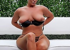 Black cock deep inside short haired Sara always makes her happy