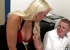 German Chubby Mature at doctor