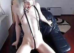 Small titted goth babe cock teases you BDSM fetish porn