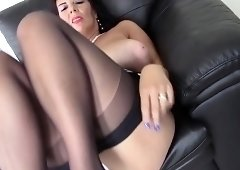 British big breasted temptress Lulu fingering herself
