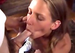 Hot Chick Masturbates Then Sucks Small Dick