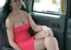 Naughty amateur in red dress fucked hard