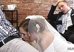 Hunt4k. They just married and he sells his wife to be fucked for money! Part 2