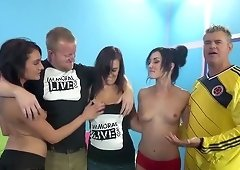 Jennifer White and Chase Ryder in group sex