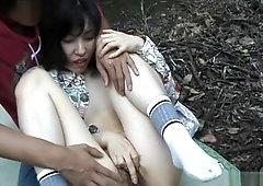Fucking in the park - naughty mature Tomoko Uehara in outdoor 69