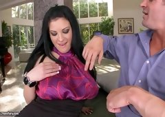 Marilyn Scott pleases her man's cock making it really hard to handle