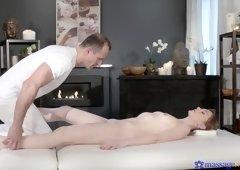 Horny pornstars George, Luca Bella in Best Massage, Small Tits porn scene