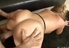 Enticing buxomy experienced female Mellanie Monroe is making him cum