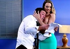 Office meeting leads to bareback fuck with boss Juelz Ventura