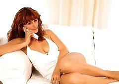 Sizzling redhead woman gets a nice foot massage before fucking