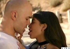 Beauteous dusky latin Veronica Rodriguez is sucking my cock