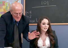 Tessa Lane lets a guy knead her big boobs and drill her cunt