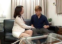 Small-titted honey Kurino Youko lying down and getting banged