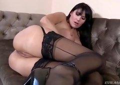 Deepthroat porn video featuring Claire Robbins and Eva Karera
