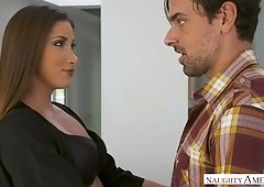 French hottie Clea Gaultier gives a blowjob and gets doggy fucked