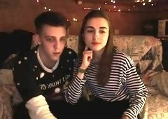 Brunette teen fingering on webcam amateur homemade