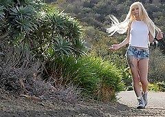 Blonde teen slut Kenzie Reeves rides a big hard cock