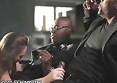 Fun Nite! Wife In Black Dick DP w Husband & His Best Boy