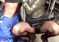 Crazy pornstar Federica Hill in incredible facial, lingerie porn clip
