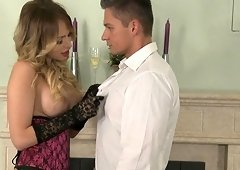 Aleska Diamond cannot resist being fucked by two fellows