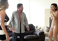 Danica Dillan walks in on Josie Jagger getting ready to fuck her husband.