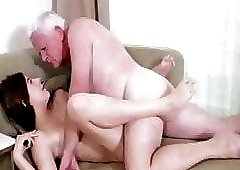 white fat grandpa