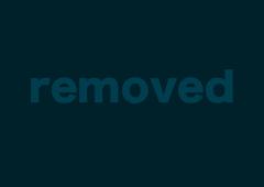 Beautiful blonde has fun with purple dildo