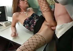 Admirable flat chested Kara Price getting cock been blowed