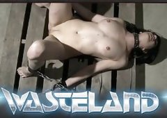 Beautiful slave girl covered in wax and brought to orgasm by her Master