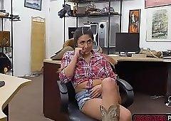Latina Lexie Banderas fucks horny pawnman for money