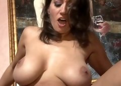 Fabulous big breasted wife Persia Monir bends over as she loves doggy fuck a lot