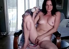 Amateur Action Of A Yummy Blackhaired Camgirl