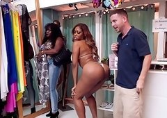 Big ass ebony milf severely fucked at shopping