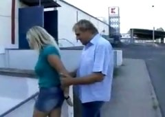 Jugs on public german milf