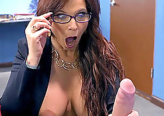 Hardcore office missionary fuck and blowjob with MILF Syren De Mer