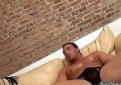 Facesitting femdom teasing bound slave