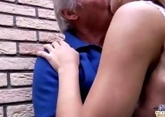 Spicy old lady featuring hot sex action ending with cumshot
