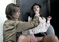 Naughty lesbian friends want to please one another's cunts