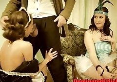 Smalltit maid punished in doggystyle